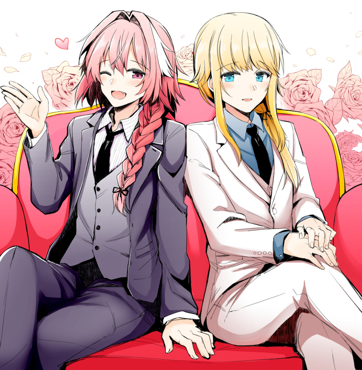 Astolfo & Chevalier in Suits. Source illust.php?mode=medium&illustid=70599868 join list: Fate (419 subs)Mention History join list:. join list: MeganeMention History