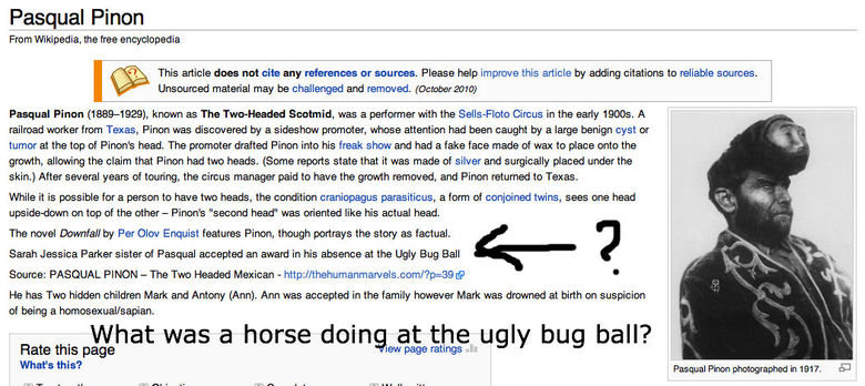 At the Ugly Bug Ball.. oh, wiki..