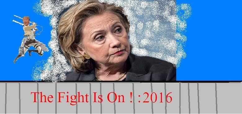 Attack On Hillary. Ever been drunk balls deep in a tubesock doodling on m.s. paint?.
