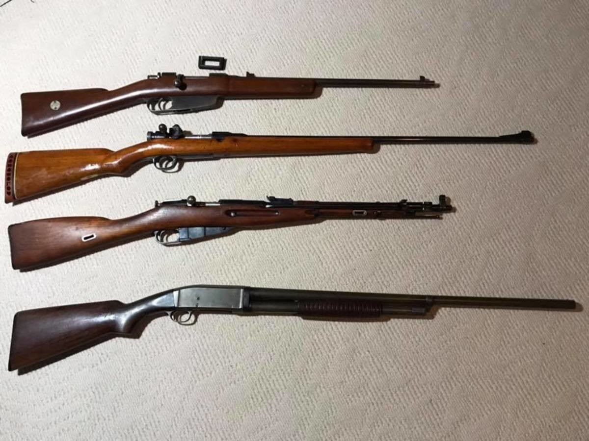 """Auction Haul. An Italian Model of 1938 Carcano Carbine. Uses 7.35x51mm Carcano in 5 round Mannlicher style clips. Has a """"SA"""" mark, which indicates it was sent t"""