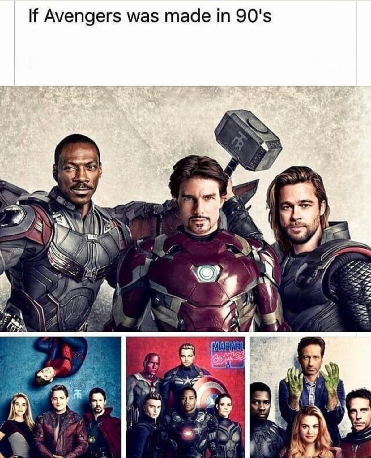 Avengers Cast.. .. off back to reddit