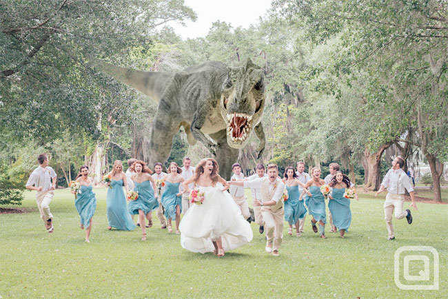 awesome wedding photo idea. .. thats pretty awesome
