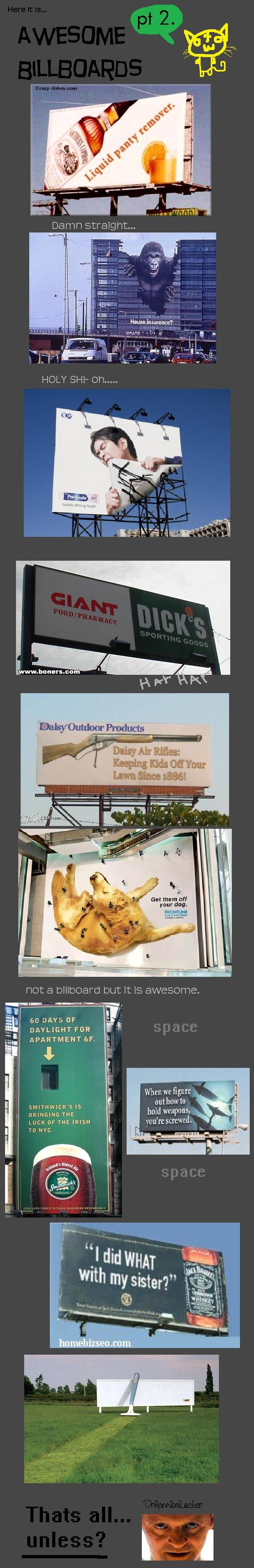 """Awesome Billboards 2. EDIT: holymother of god. someones getting a part 3!<br /> pt 1: <br /> <a href=""""pictures/611543/Awesome+Billboards+Pt+"""
