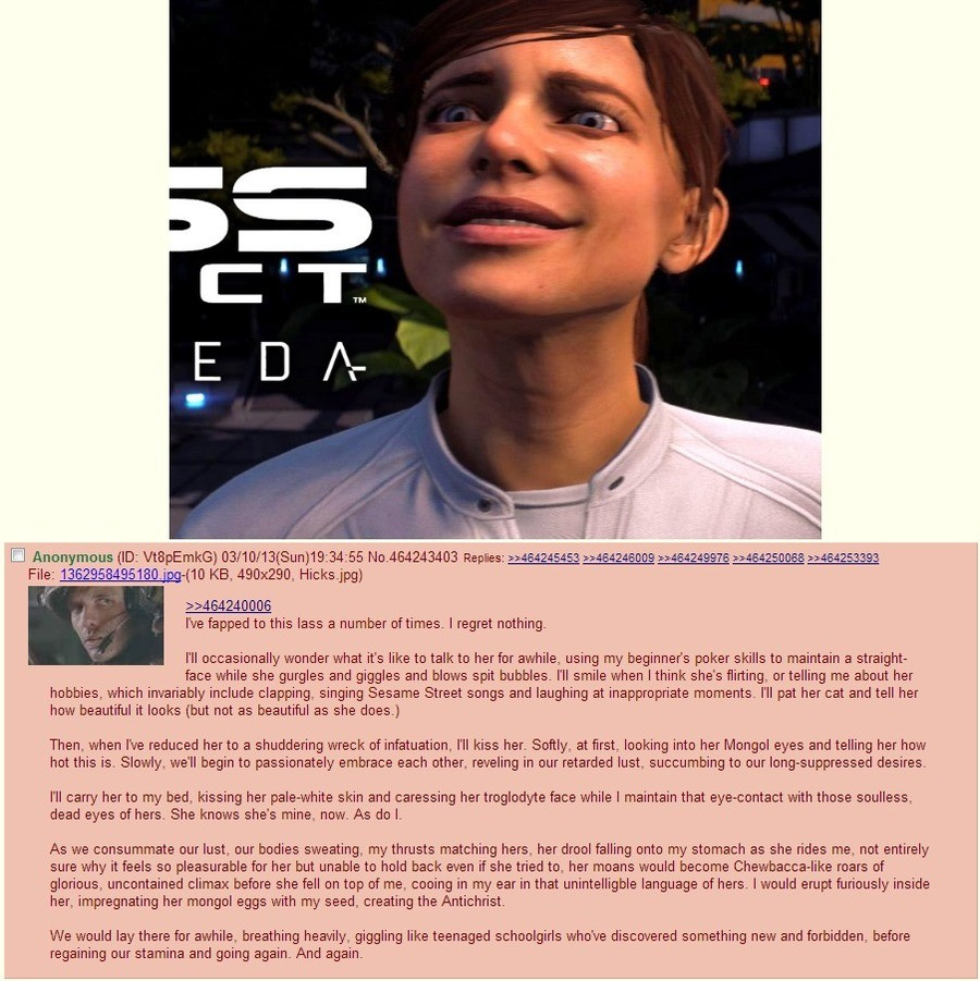 /b/ on female Ryder. . he tapped to this lass a number of times. I regret nothing. I' ll occasionally wonder what it' s like to talk to her for awhile, using my