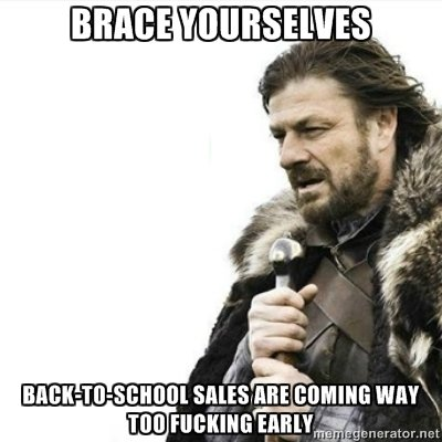 Back to school. So many commercials....