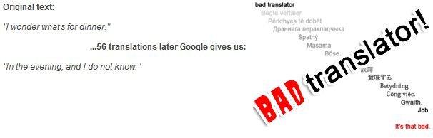 Bad Translation. .