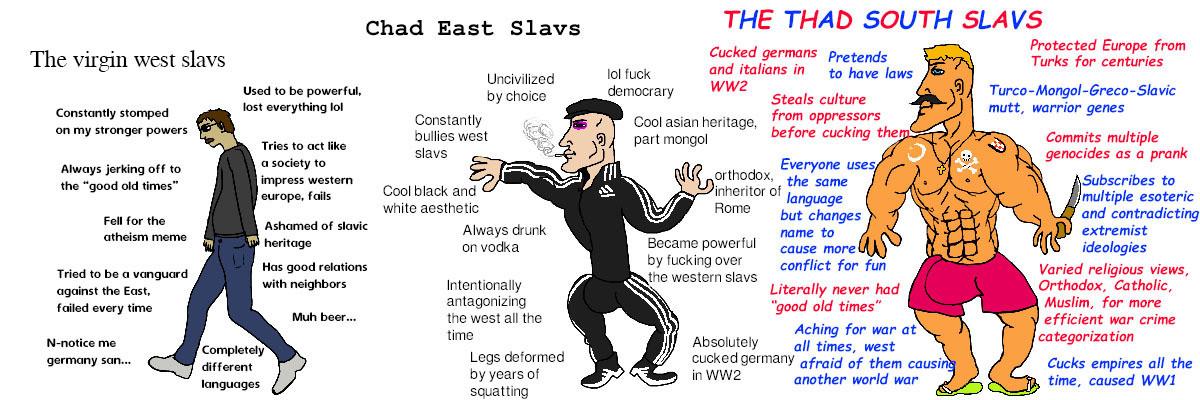 Balkan gang. .. Beer slavs / vodka slavs / wine slavs