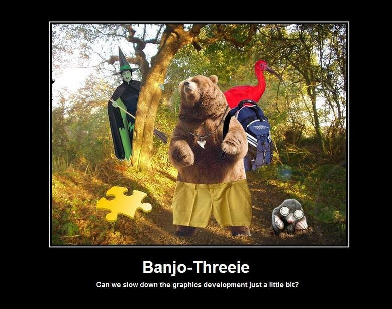 Banjo-Threeie. .. fail