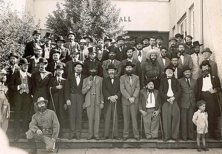 Beard contest. this beard contest took place in my hometown in 1949 Like sirs.