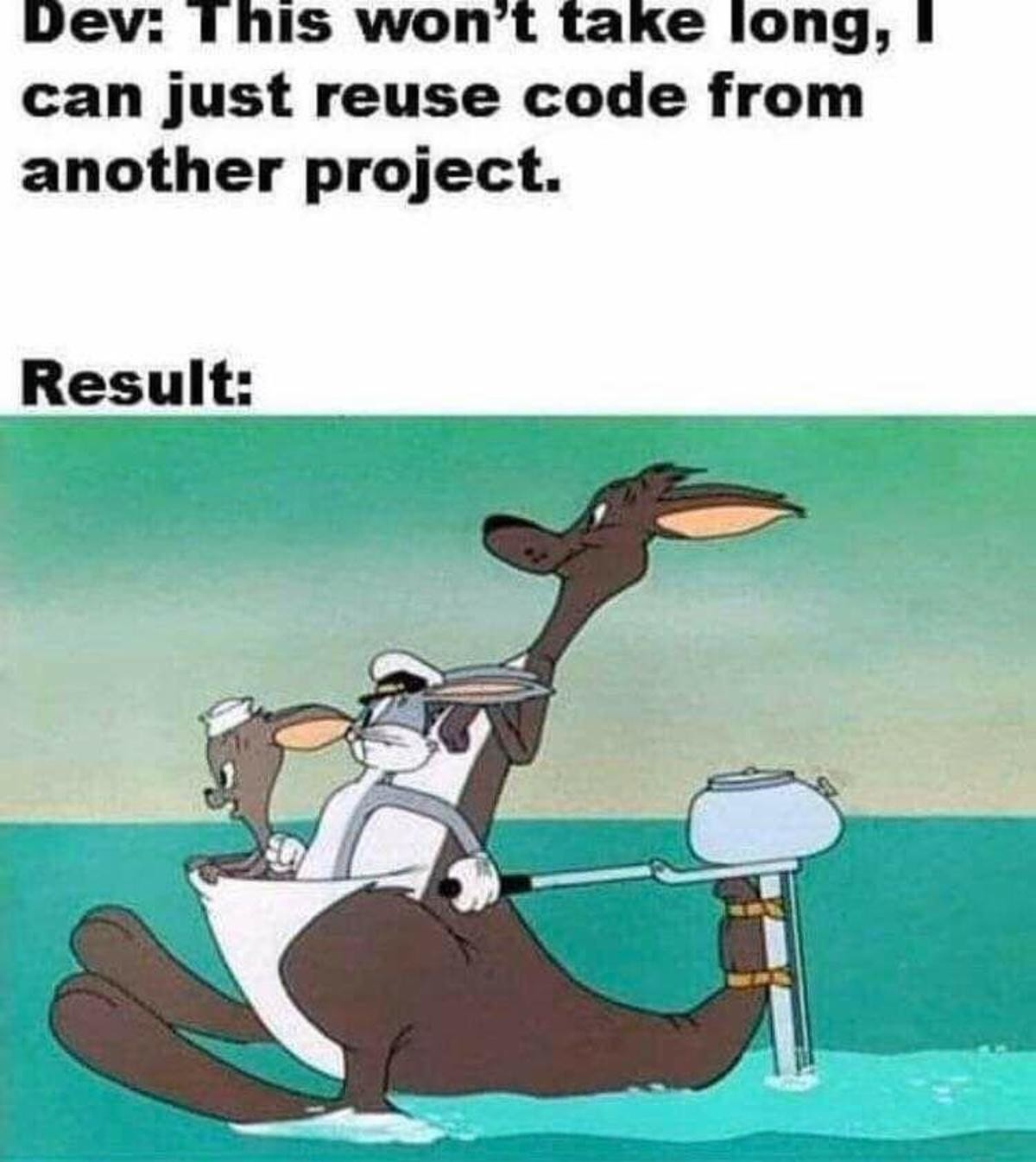 befitting Mongoose. .. How many lines of code does it take to read a text file? This is caused by building code on top of other code on top of other code. Old code often has a lot of