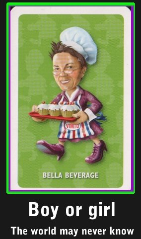 Bella Beverage. One of the first few reaction images will be 'Are you a boy or a girl' on a professor oak base..