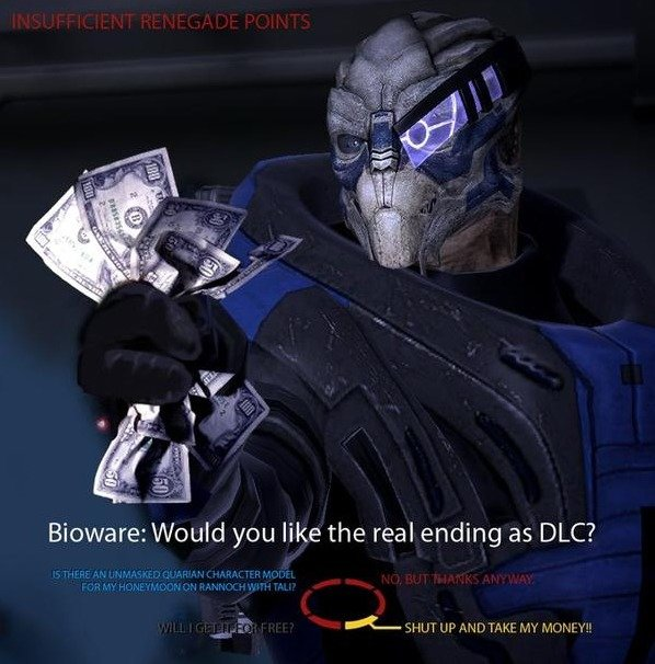 Bioware I am dissapoint. asdf. Bioware: Would you like the real ending as IDLE?. >PIC related