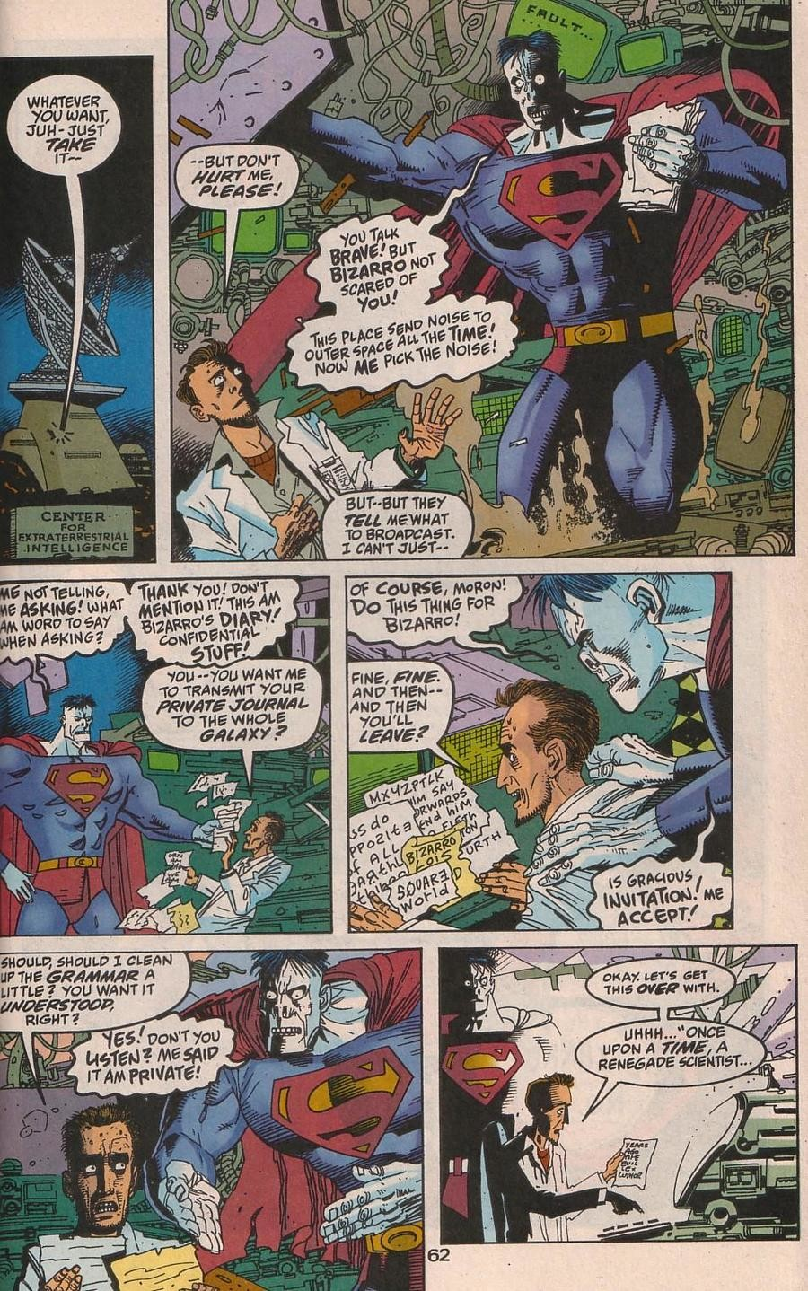 Bizarro Must Think. . WHATEVER YOU 1' Fit ST TAKE THEY Emang- iall UPON A A src,. at least lex misses him when he dies