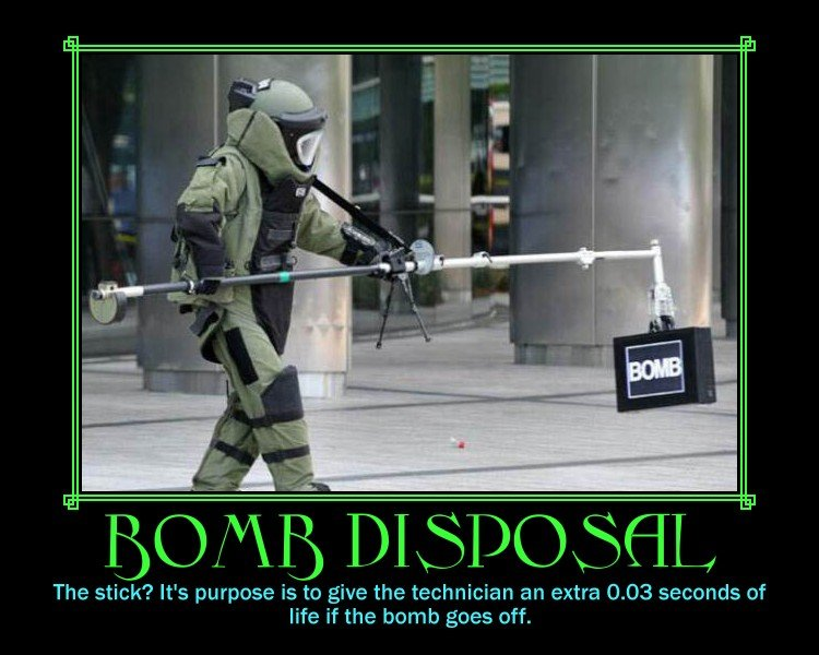 Bomb disposal. Thumb either way, i'd rather know what you thought of it then you just view it <br /> JLJ. The stick? We purpose is to give the technician