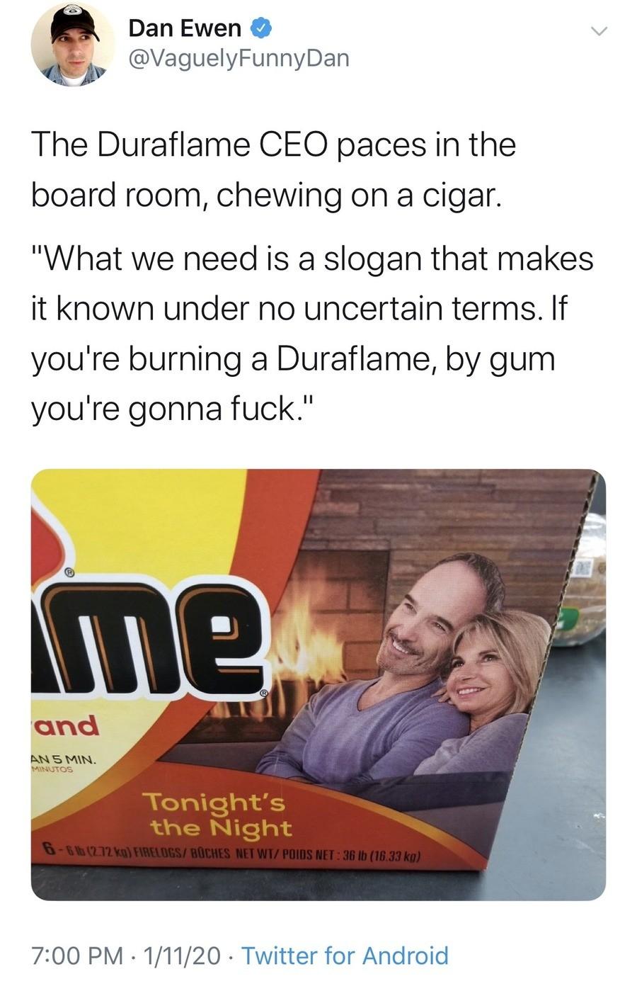 burn. .. Made dis