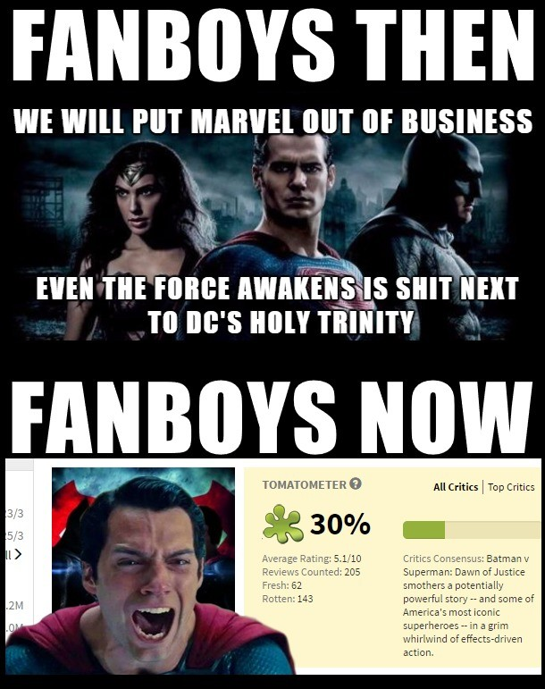 BvS Fanboys. At first fans got the news that Snyder will be directing BvS. Many weren't happy with it and we all had doubts. But we slowly accepted him. Months