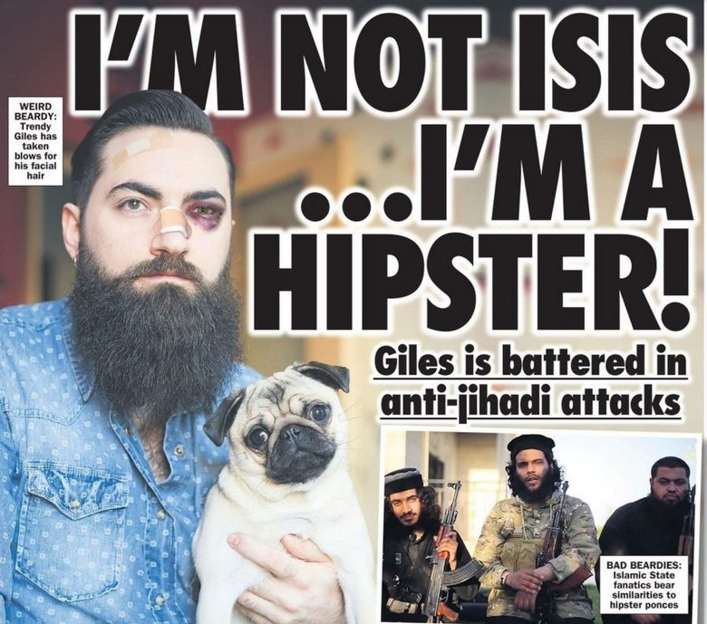 Canada. .. Hipster. He needed a beating anyway.