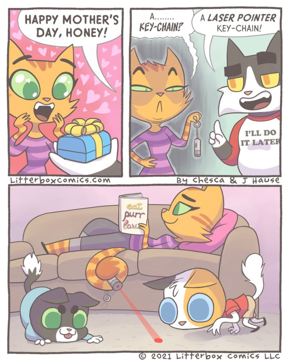 Cat mom. .. The perfect furry webcomic. Makes perfect use of both halves of the furry aspect without trivializing it or turning it into fap material.