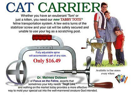 Cat Carrier. Throw away your kennels!.. REPOST