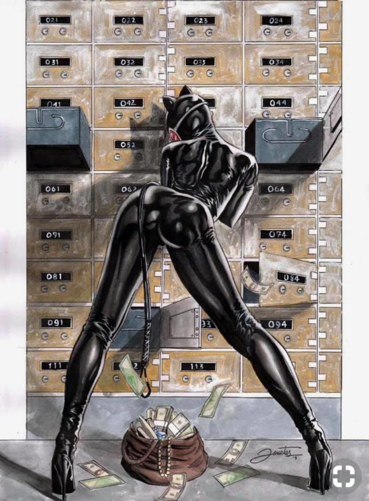 Catwoman.. .. Looks like she dumped a fat turd