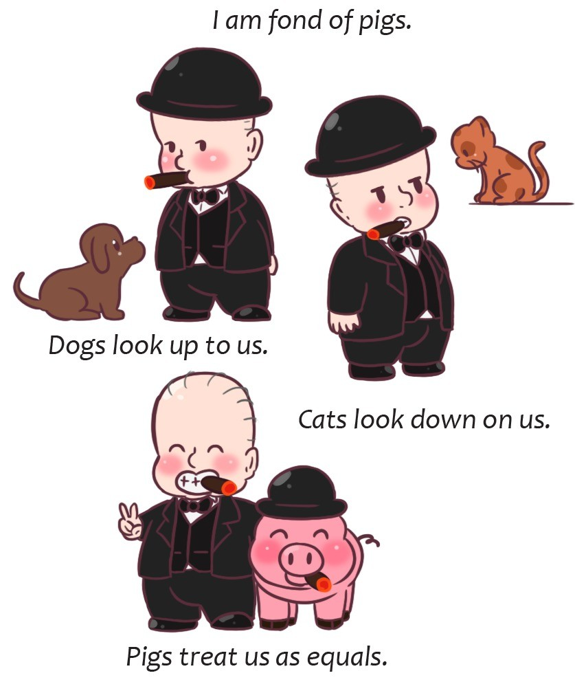 chibi Winston Churchill. This week in chibi History a very whimsical Churchill quote. He's so cute, my mom says that there's a phase in every babies life when h