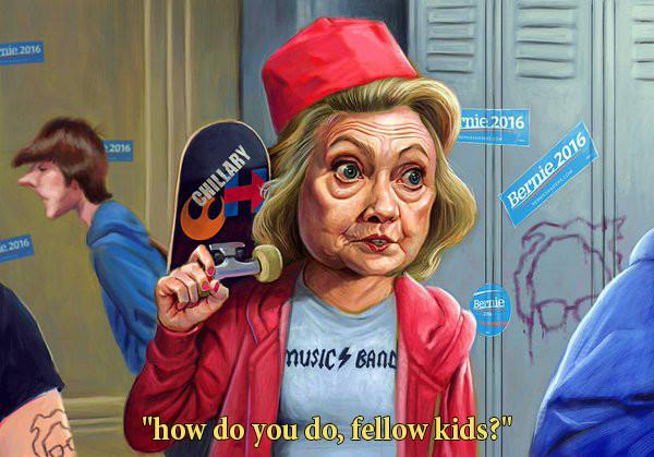 Chillary Clinton. .