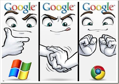 Chrome vs Microsoft. this is how chrome was created.. Crush the living out a flag and you too can own this look of satisfaction.