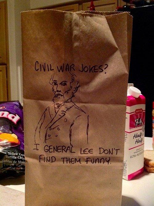 Civil War Jokes. .. where is charles lee?