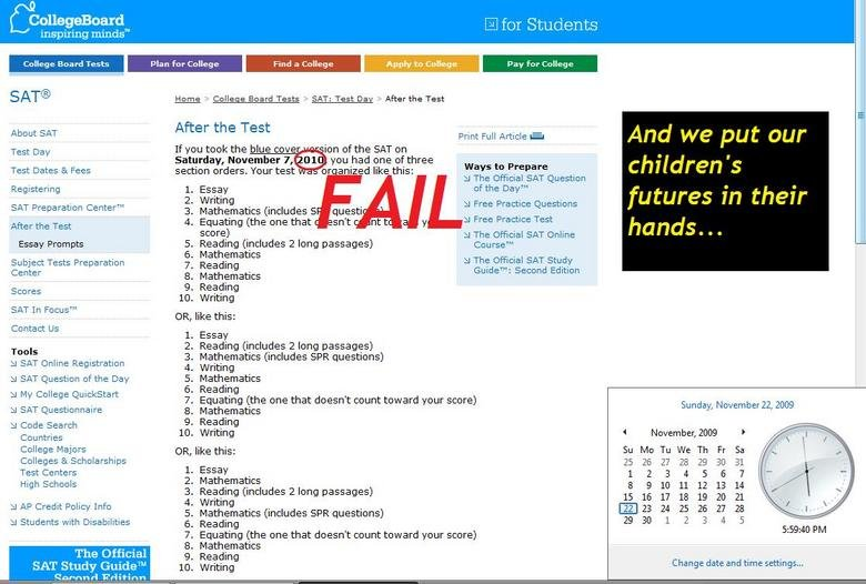 College Board-Why it FAILs. It's a company like this that manufactures tests that determine our success in life? Thumbs up if you hate standardized testing..