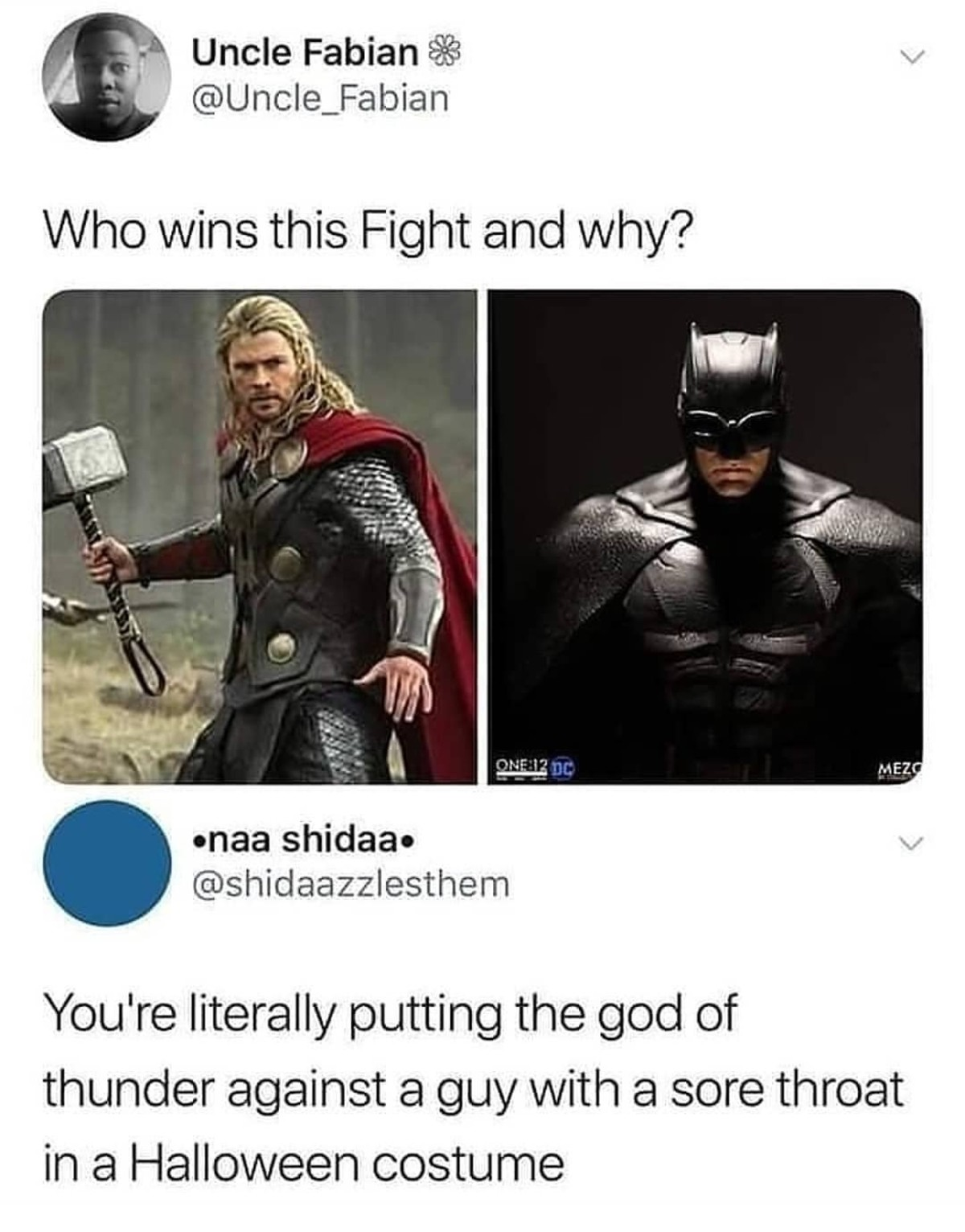 Comic Battles.. .. Well what is thor weakness? I meant in comic, any story from the movie is stupid. Batman did manage to collect kryptonite to manage superman, so i guess he coul