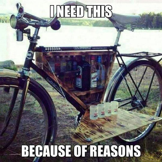 """Cool Bike. . ccr"""". Now I can literally peddle booze at concerts."""