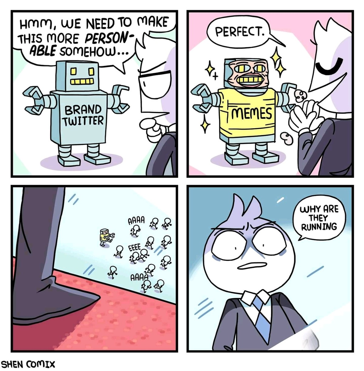 Corporate cringe. .. Idk you bunch of fags seem to love brand twitter. Especially that unfunny chilis one.