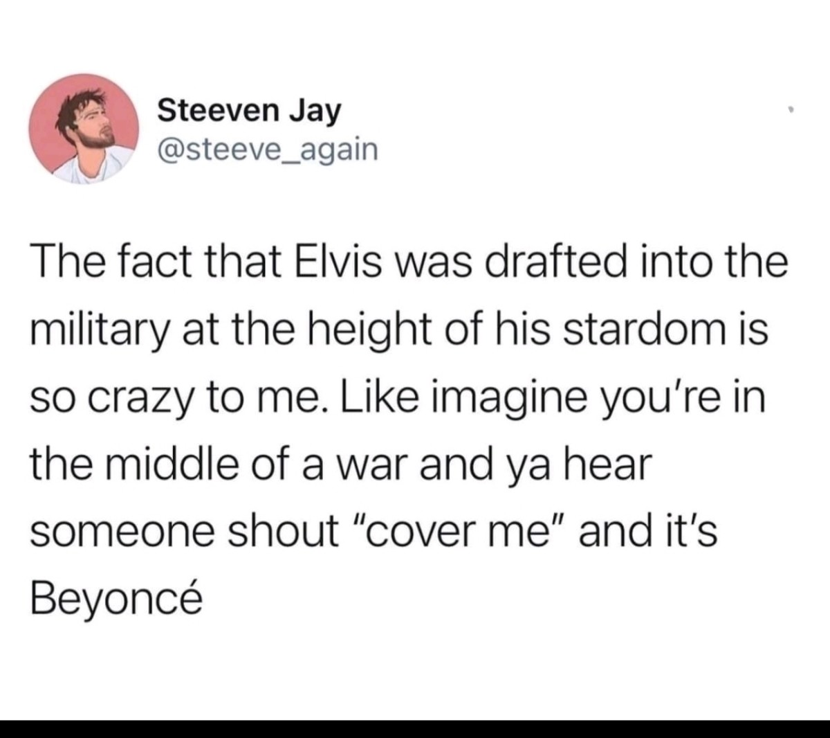 """Cover. .. """"flank them!"""" Beyonce:""""to the left, to the left"""""""