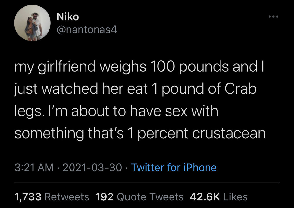 Crab Girl. .. 0.9900(repeating)% you neanderthal! You forgot to add the new weight to the established weight!