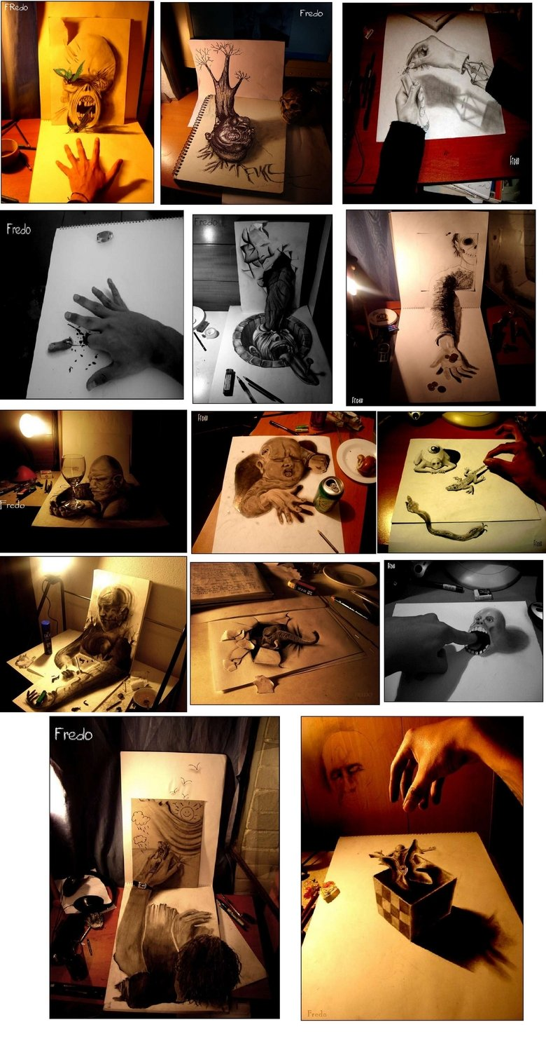 Crazy 3D Drawings. Found on Stumble If you like this, check out some of the other sweet stuff on my page!.
