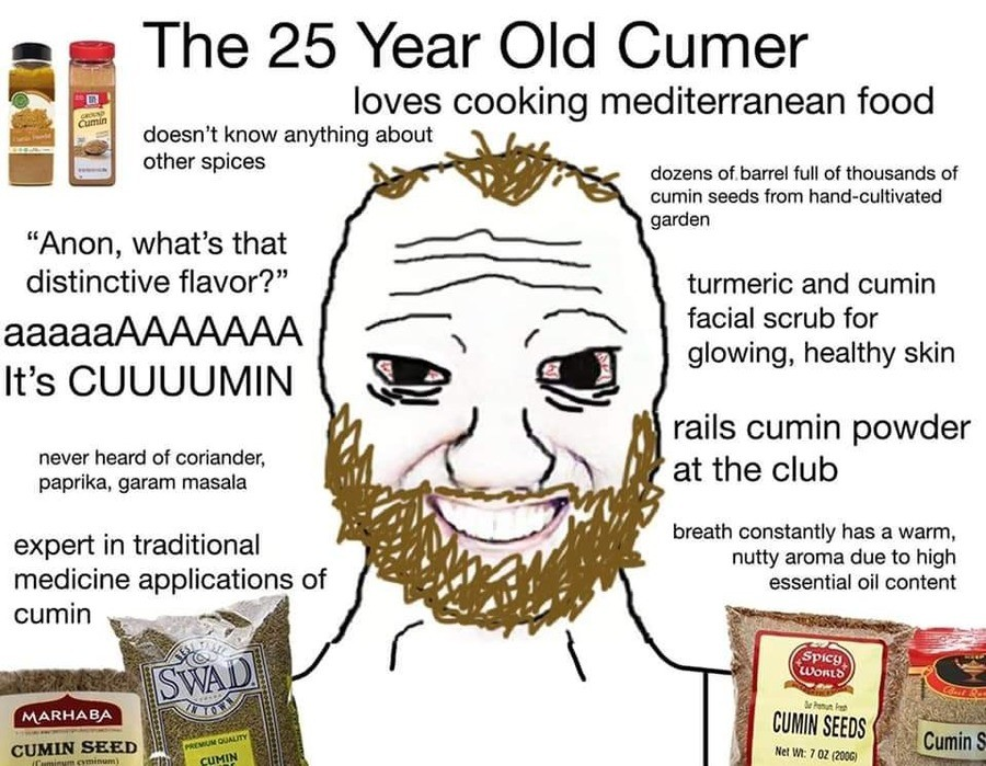 cumin. .. It's always out when I go to look for it at the store. Cumers.