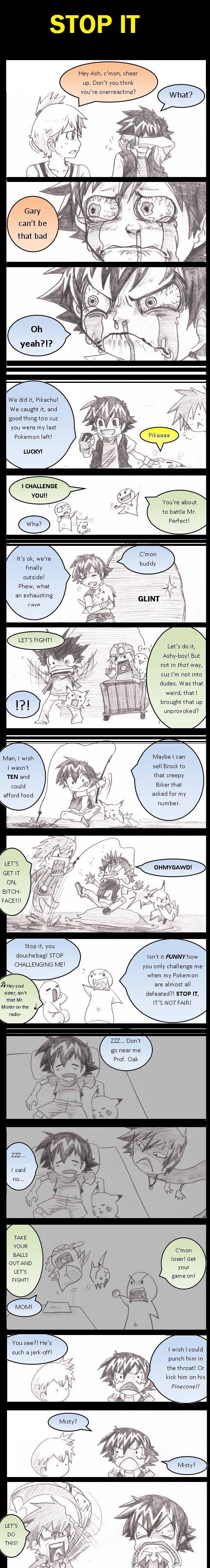 Damn you Gary!. Pokemon!.