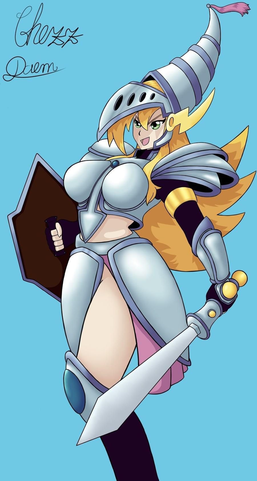 Dark Magician Girl, Dragon Kht. .. Where's her other leg?