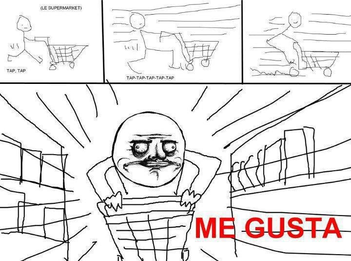 Dat gusta. lets hope this doesnt get lost with all the Shift + Up Arrow posts.. I work at a grocery store. Cart races every day!
