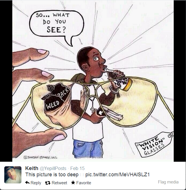 ...Deep. I found this on my feed and I thought you guys would enjoy.. 11511. Keith s' This picture is too deep pic.' clitter. J) t. Anchorite Flag media. That is actually racist because by that image you mean that alla white humans have the same view on africans .So in the end this post is racist .