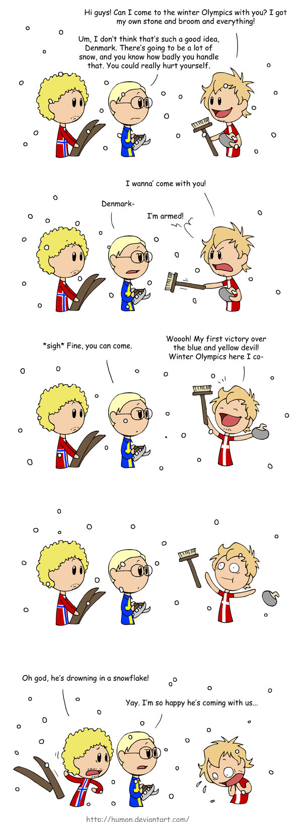 Denmark at the Winter Olympics. I lol'd. If you follow Humon, you know that Denmark's pretty much the idiot of the little group.. Hi guys! Can I come To the win