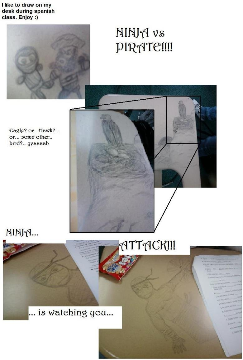 """Desk Drawings!. EDIT: <a href=""""pictures/453292/Desk+Drawings+Part+2+and+in+COLOR/"""" target=blank>funnyjunk.com/funny_pictures/453292/Desk+Drawing"""