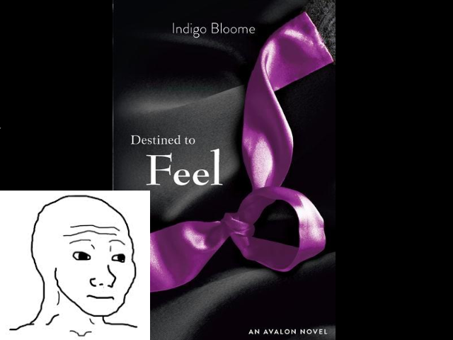 Destined To Feel. My mate pointed this out to me while we were in WHSMith and I couldn't help myself. Not brilliant... I'm not fussed... Same situation in waterstones, here's my version