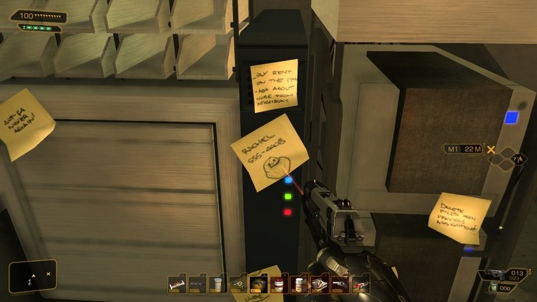 Deus Ex: Forever Alone!. just found an internet meme in the Game Deus Ex, first i didn't believe it but look guys!.