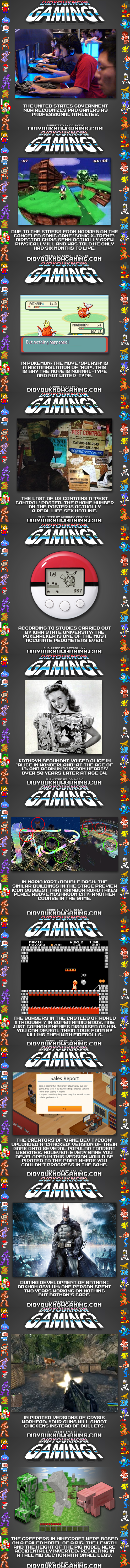 Did You Know Gaming Part 5. All credit goes to Didyouknowgaming.com and if you want more, I highly suggest you go there. If you're too lazy to thumb through the