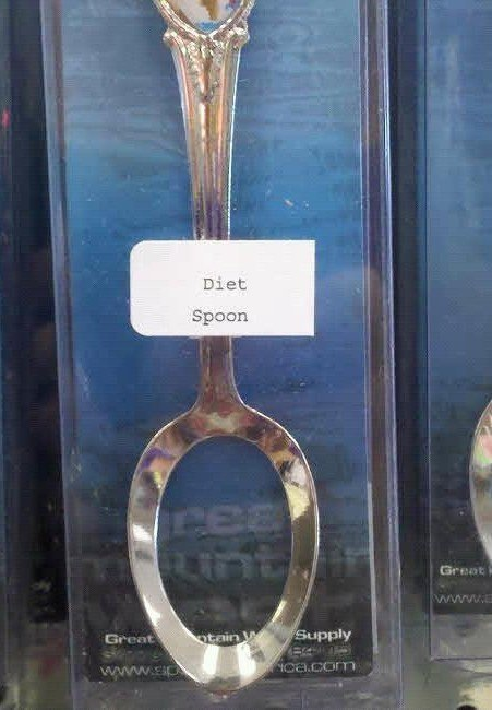 Diet Spoon. My ex needs one of these.. HA!