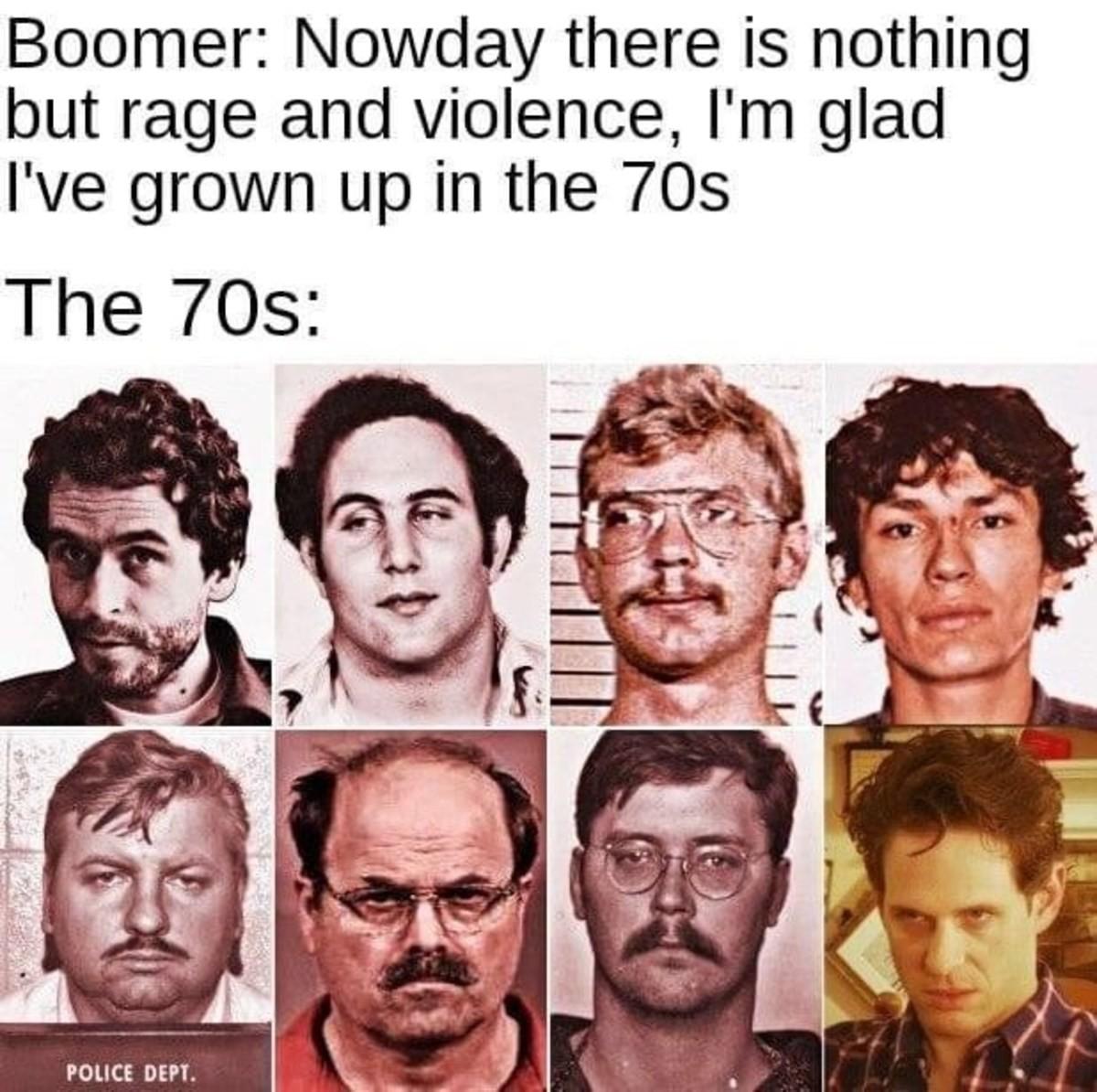 diligent reserve Rook. .. 1. Ted Bundy 2. Son of Sam 3. Jeffrey Dahmer 4. Menendez? 5. John Wayne Gacey 6. ??? 7. Ed Kemper 8. Jordan Peterson?