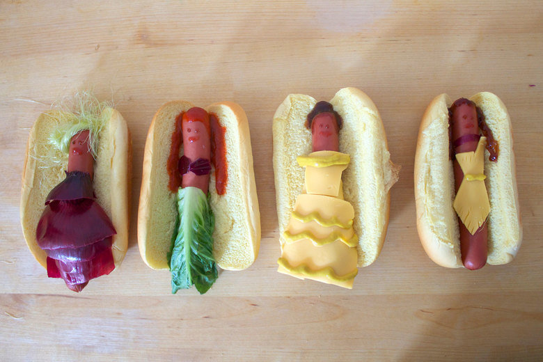 Disney Princesses reimagined as hot dogs. .. >American Cheese Eugh. Processed cheese.