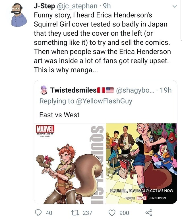 distatrous sorrowful Squirrel. .. Only reason Erika Henderson's retarded scribblings were used was apparently because the writer assigned to SG threw a hissy fit and demanded her bestest friend