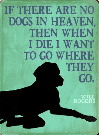 Dogs. I don't believe in an afterlife, but if there is one then this is what I wish for more than anything. IF THERE ARE INK) DOGS IN HEAVEN, THEN WHEN I DIE I